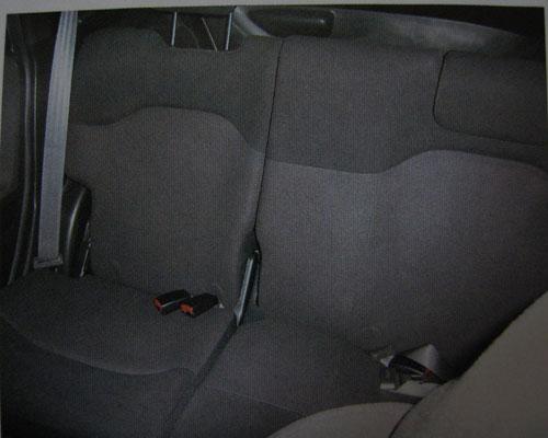 2008 Honda Jazz back seats