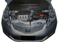 2008 Honda Jazz engine bay