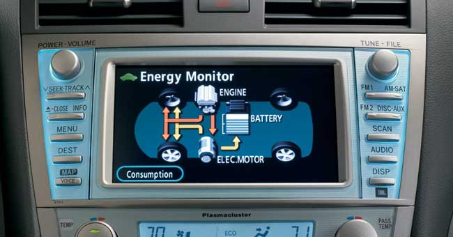 Hybrid Camry Display