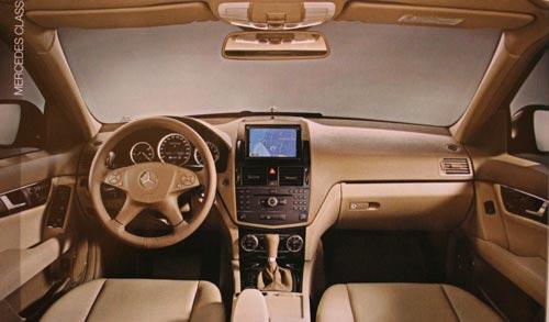 2008 C-Class brochure shots leaked 2008 C-Class Interior (Dash)