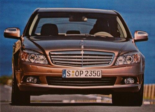 2008 C-Class brochure shots leaked - 2008 C-Class Front