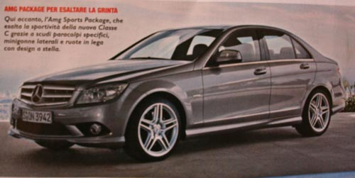 2008 C-Class brochure shots leaked - 2008 C-Class AMG