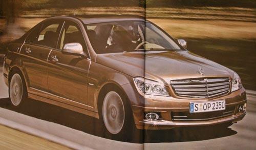2008 C-Class brochure shots leaked - 2008 C-Class Front (2 pages)