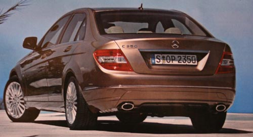 2008 C-Class brochure shots leaked 2008 C-Class Rear