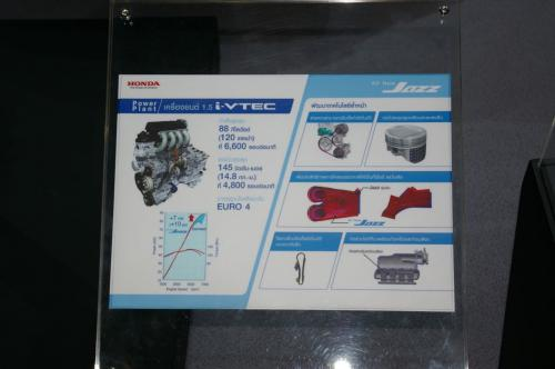 2008 Honda Jazz Engine Specifications