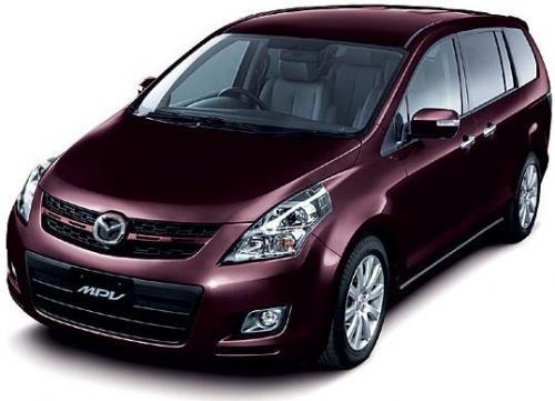 2007 Bangkok Internaional Motor Show theme - Mazda MPV front