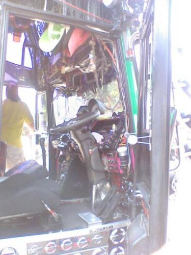 Typical Thai Bus! No.... really! - Fully loaded interior